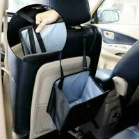 Portable Car Trash Can Garbage Bin Bag Foldable Organizer Black Waterproof Z9Q6