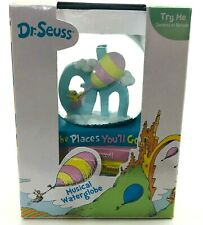 """Dr Seuss Musical Snow Waterglobe """"Oh the Places You'll Go"""" New"""