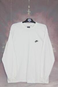 NIKE 90'S VINTAGE EMBROIDERED SWOOSH LOGO LONG SLEEVE T-SHIRT,RETRO,SIZE:XL