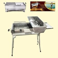 Mangal Stainless steel Grill BBQ Standing Grill Mangal with Barbecue grid