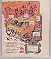 Dodge Factory-Customized Street Van PRINT AD - 1976 ~~ psychedelic art