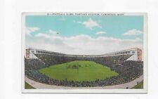 Vintage Postcard ** FOOTBALL GAME * HARVARD STADIUM * CAMBRIDGE MA