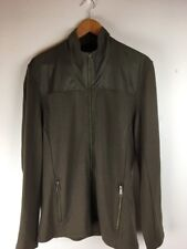 Alchemy Equipment Mens Coat M Green Brown Zip Long Sleeve 100% Merino Wool