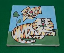 New listing Cats & Dogs & People Too - Debby Carman - Tiger Lioney Cat Trivet Wall Art