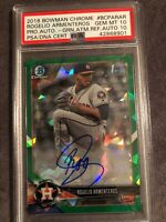 2018 Bowman Chrome 1st Rogelio Armenteros Green Atomic Ref Auto PSA/DNA 10/10 💎