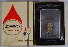 Vintage 1973 Zippo SWISS MISS Cigarette Lighter in Box