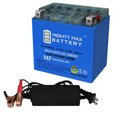 Mighty Max Ytx14L-Bs Gel Battery Replaces Harley-D 1200 Xl 04-19 + 12V 2A Chargr