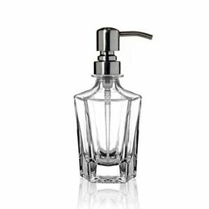 Classic Design Glass Soap Dispenser with Rust Proof Stainless Steel Pump
