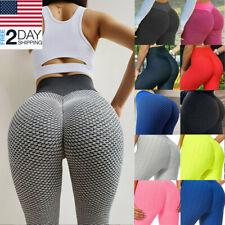 New listing TikTok Yoga Leggings High Waist Anti Cellulite Butt Yoga Pants Lift Fitness A+++