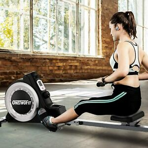 ONETWOFIT Rowing Machine Rower with 16 Level Adjustable Resistance Digital New