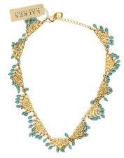 Lauren Ralph Lauren Womens Gold Turquoise Necklace 0317