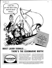 Dec. 1939. Dr Seuss Art, Esso Marine Ad. Removed From A Yachting Magazine.
