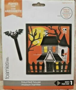 Foamies® Haunted House Scene: 5.7 x 6.3 inches, 14 pieces