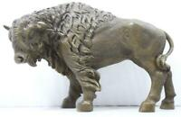 Bronze Sculpture of a Standing Bison - Signed - 31cm Long