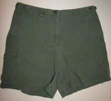 Jones New York Petite Sz 8P Army Green Short Shorts