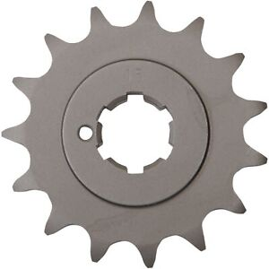 Parts Unlimited - 13144-030 - Steel Front Sprocket, 15T Kawasaki A7 SS 350 Aveng