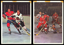 1963-64 TORONTO STARS IN ACTION COMPLETE SET OF 42 HOWE BOBBY HULL KEON HORTON