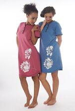 Damen-Nachthemd 2 Stück = 1 Preis (DW502A) Gr.: 56-58 100% Baumwolle Jersey