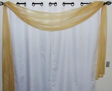"1PC VALANCE SCARF SWAG VOILE SHEER ELEGANT CURTAIN WINDOW DRESSING 35"" X 216"""