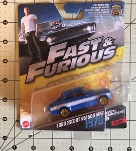 NEW! Mattel Fast & Furius 1970 FORD ESCORT RS1600 MK1