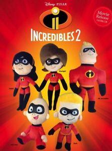 DisneyPixar- Incredibles 2 MR INCREDIBLE ELASTIGIRL JACK Soft Plush Doll Toy29cm