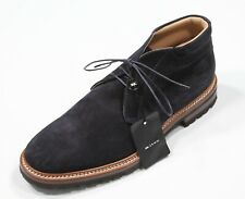 New! Kiton $2000 Navy Blue Suede Ankle Boots Men's US 11.5