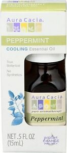 NEW Aura Cacia Aromatherapy Essential Oil Peppermint Boxed Oil 0.5 oz