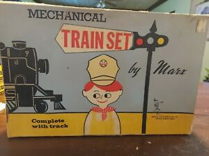 Marx Mechanical Wind up Train Set # 526, Original Box & Key