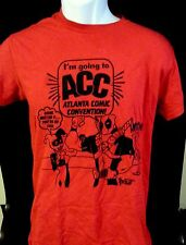 Atlanta Comic Convention Deadpool Harley Quinn Red T-Shirt Tee Men's Size Small