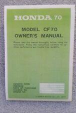 Honda Chaly CF70 Owner's Manual
