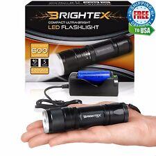 Brightex FL11 Kit: Small Powerful Tactical Flashlight + ZR1 Fast Charger & 18650