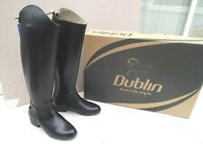 """NEW DUBLIN MONARCH DRESS BOOTS,BLACK LEATHER ,SIZE 5 UK,38 EURO,13.5"""" CALF,BOXED"""