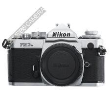 NIKON FM-3A FM3A 35mm SLR FILM CAMERA BODY // SILVER EX++ / 180D W