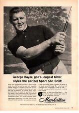 "1958 George Bayer ""Golf's Longest Hitter"" Bremerton WA Manhattan Shirt Print Ad"