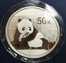 2015 China 5oz 50yuan silver panda coin with COA and original box