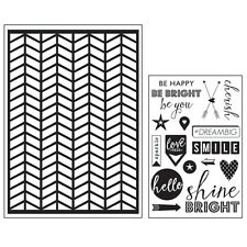 Momenta Art C Mixed Media Adhesive Stencil & Stamp Pack - Chevron