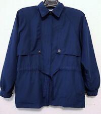 Oleg Cassini Womens Jacket Size M Blue Full Zipper & Belted Light Weight Coat
