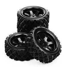 4 X Tires Wheel Rim 1/10 PP0072+PP0487 RC Rally Racing Off Road Car Rubber