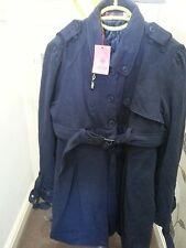 LADIES / WOMENS: SOGGO PARIS: 100% COTTON: COAT: NAVY BLUE: BRAND NEW WITH TAGS