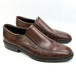 ECCO Brown Leather Slip-On Loafers sz: 43 US 9 - 9.5