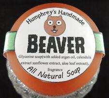 BEAVER Shave & Beard Soap Men's Puck Glycerin Bar Pine Woods Stocking Stuffer