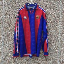 Barcelona Long Sleeved Kappa 1995 1997 Home Football Shirt camiseta Spain Barca