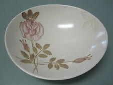 VINTAGE 1935 RED WING BOWL PINK AND GOLD ROSE ON CREAM