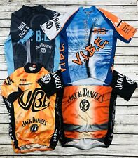 Lot Of 4 Mens Club Cut Full Zip Cycling Jersey Size Small Jack Daniels Old No. 7