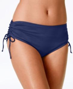 24th & Ocean Tummy-Control Side-Tie Bikini Bottom Navy Large