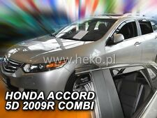 Honda Accord Estate mk8 2009-onwards 4-pc Wind Deflectors HEKO Tinted