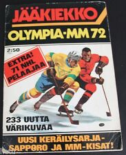 1972 Finnish Semic World Championship Hockey Sticker Album Complete 233 stickers
