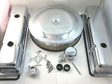 SB Chevy SBC Chrome Engine Dress Up Kit W/ Oil Fill Short 283 327 350 1959-86 V8