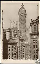 New York, Singer Buidling (1920s) Rotary RPPC