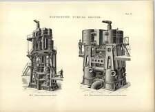 1893 Worthington pompage moteurs verticaux et triple Expansion dessins